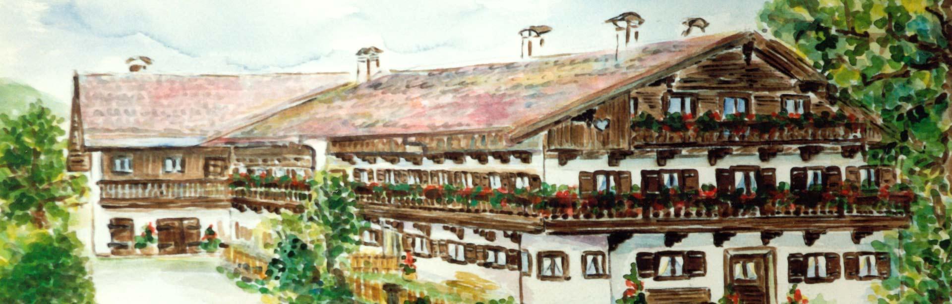 Bild Oberpartenhauser Hof gemalt